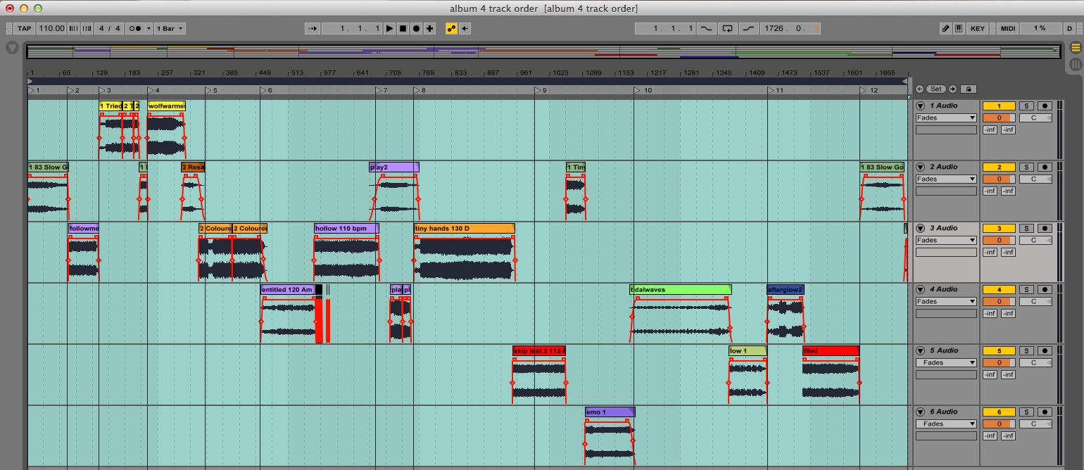 WP's 4th Album sequencing begins!